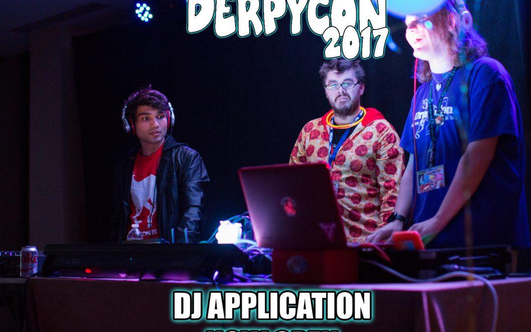DerpyCon 2017 DJ Application Now Open