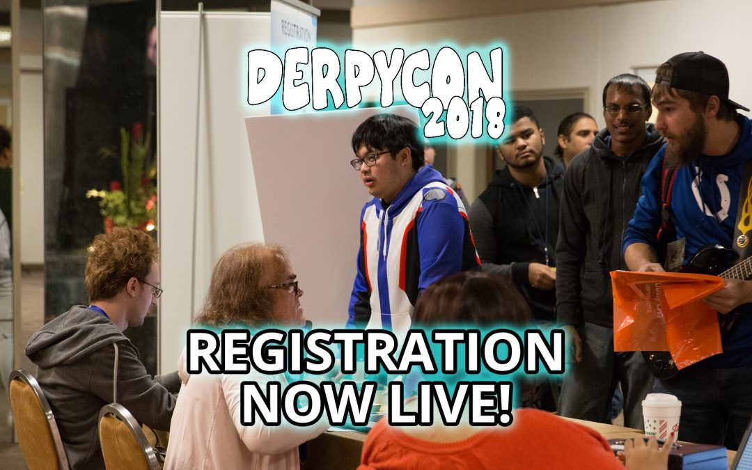 Registration Now Live for DerpyCon 2018!