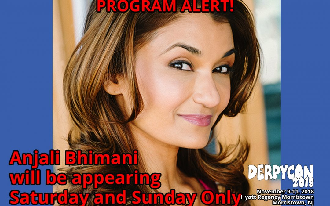 Anjali Bhimani To Appear Saturday and Sunday