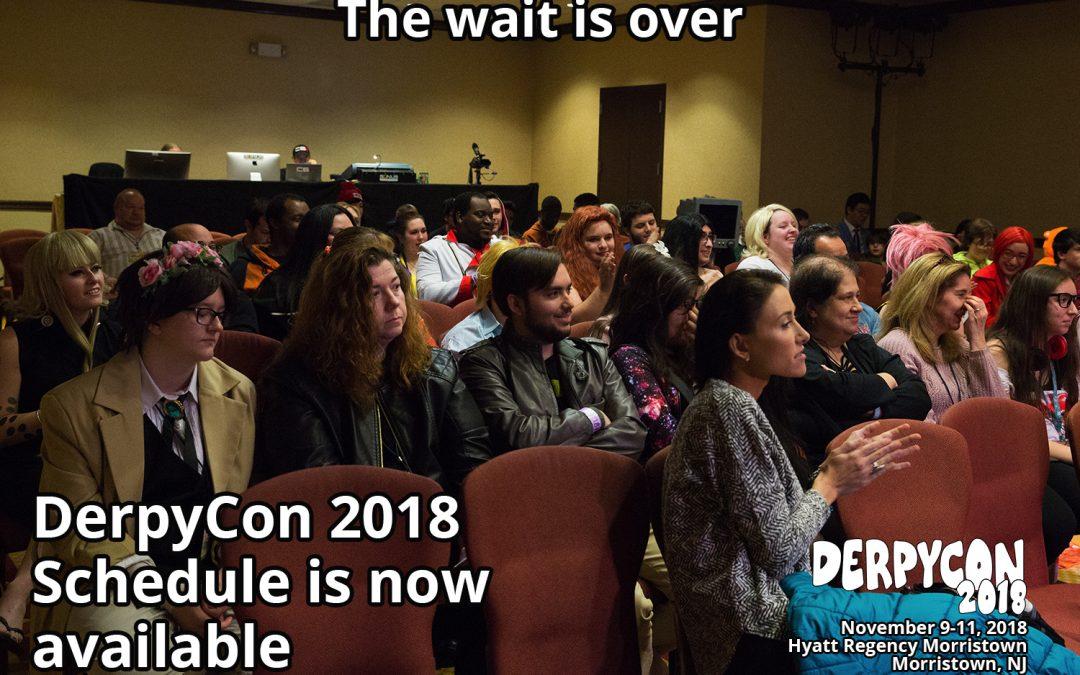 DerpyCon 2018 Schedule Now Live