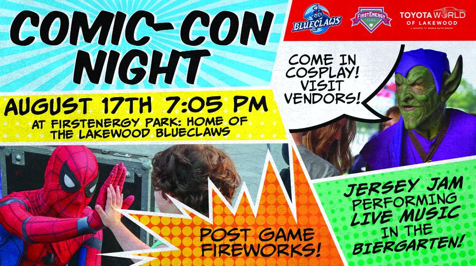BlueClaws Comic-Con Night!