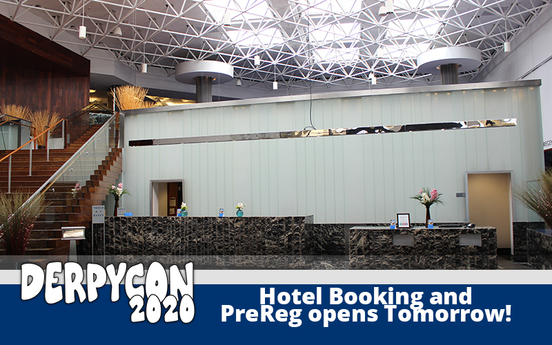 DerpyCon 2020 Hotel Booking and Prereg Opens Tomorrow