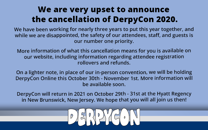 DerpyCon 2020 Cancellation