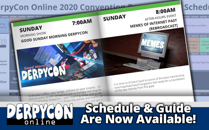 The DerpyCon Online Schedule and Program Guide are Out!