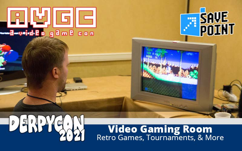 The DerpyCon 2021 Video Game Room